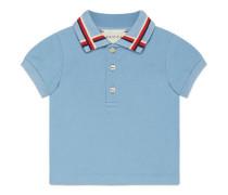 Baby Poloshirt aus Baumwolle mit Sylvie Webstreifen