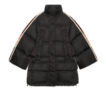 Cape-Jacke aus Nylon mit Streifen