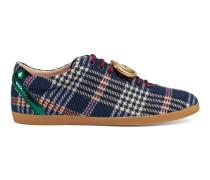 Sneaker mit Schottenkaro und GG