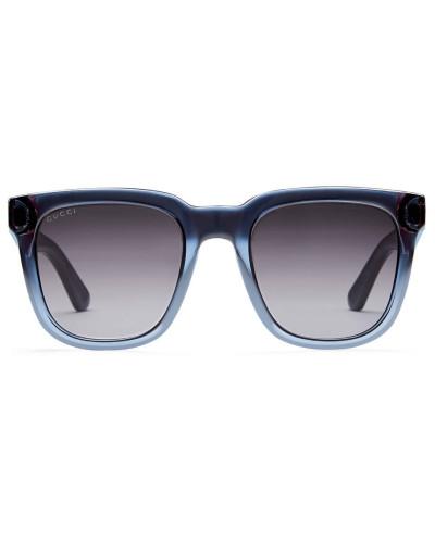 gucci herren sonnenbrille mit rechteckigem rahmen aus. Black Bedroom Furniture Sets. Home Design Ideas