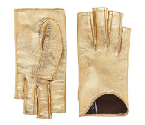 Handschuhe aus Metallicleder