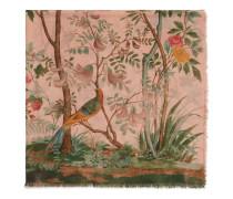 Schal aus Wolle und Seide mit Tree of Life Print