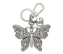 Schlüsselanhänger mit Metall-Schmetterling mit Kristallen