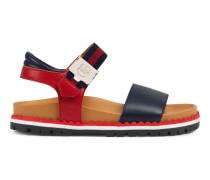 Kinder Sandale aus Leder mit Profilsohle