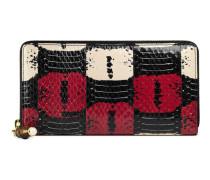 Gucci Nymphaea-Brieftasche mit Rundumreißverschluss
