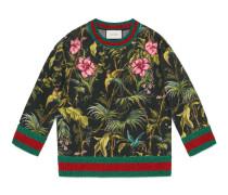 Pullover mit Tropen-Print