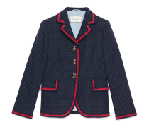 Jacke aus Baumwolle und Wolle mit Punktmuster