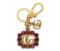 Schlüsselanhänger mit Doppel G aus Metall mit Kristallen