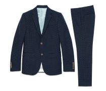 Anzug Monaco aus Baumwolle-Wolle-Jacquard