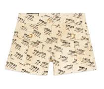 Shorts aus Denim mit Gucci Invite-Stempel-Print