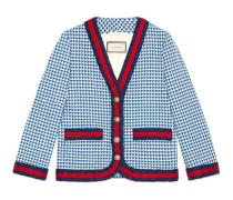 Jacke aus Wolle mit Webstreifen