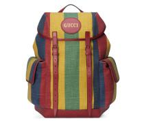 Rucksack aus Canvas mit gestreiftem Baiadera-Muster