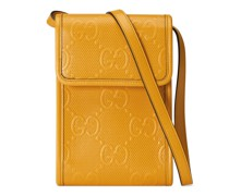 Mini-Tasche aus geprägtem GG Leder