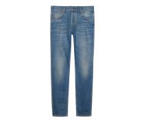 Punk-Hose aus blauem Denim