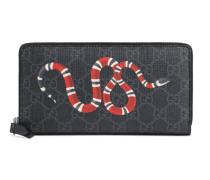 Brieftasche mit Rundumreißverschluss aus GG Supreme mit Kingsnake-Print