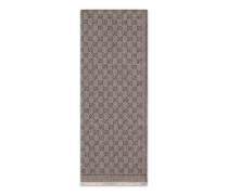 Schal aus Wolle mit GG Blumen-Print