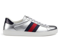 Low-Top Sneaker Ace aus Metallic-Leder