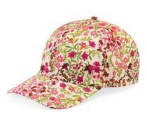 Kappe mit Blumen-Print und Eschatology-Etikett