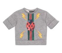 Baby Pullover mit Marienkäfer- und Webstreifen-Print