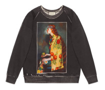 Pullover mit Ignasi Monreal-Print