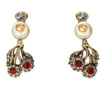 Blumen-Ohrringe mit Kristallen