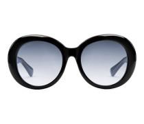 Sonnenbrille aus Azetat mit speziell geformtem ovalen Rahmen