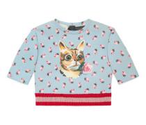 Baby Pullover mit Katzen-Print