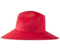 Asymmetrischer Hut mit breiter Krempe