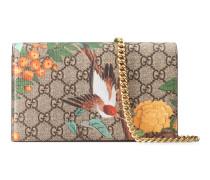 Mini-Tasche mit Gucci Tian Print und Kette