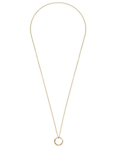 Halskette mit Schlangenring-Anhänger aus Gold