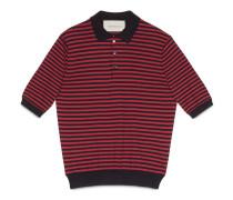 Poloshirt aus gestreifter Baumwolle und Kaschmir