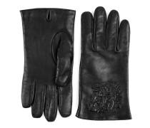 Handschuhe aus Leder mit Tiger-Prägung