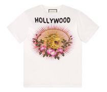 T-Shirt aus Baumwolle mit Leoparden-Print