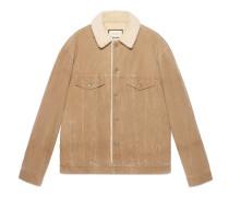 Jacke aus Cord mit Stickerei