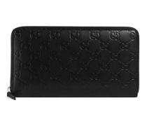 Lange Brieftasche mit Leder Gucci Signature