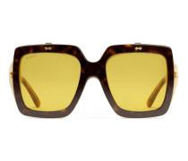 Extragroße Sonnenbrille mit quadratischem Rahmen aus Azetat