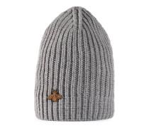 Mütze aus Wolle mit Biene