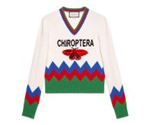 Pullover aus Wollstrick mit Chiroptera-Applikation