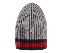 Mütze aus Wolle mit Web