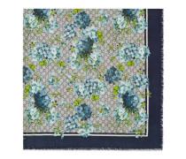 Schal aus Seide und Modal mit GG Blumen-Print