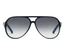 Sonnenbrille in Pilotenform aus dreischichtigem Azetat