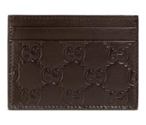 Kartenetui mit Leder Gucci Signature