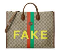 "Großer Shopper mit ""Fake/Not""-Print"