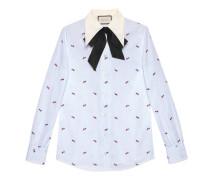 Hemd aus Fil Coupé mit Durchstochenes Herz-Motiv
