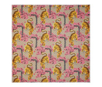 Schal aus Modal und Seidensablé mit Gucci Bengal-Print