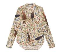 Hemd aus Baumwolle mit Raubvogel-Print