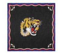 Halstuch aus Seide und Modal mit Tiger-Print