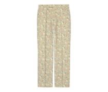 Anzughose aus Wolle mit Liberty-Print