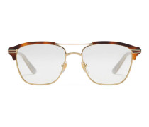 Brille mit quadratischem Rahmen aus Metall