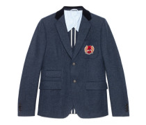 Cambridge Jacke aus Filz mit Wappen